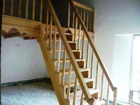La Pose De L Escalier De La Mezzanine R Novation Du Riad Zitouna F S Au Maroc